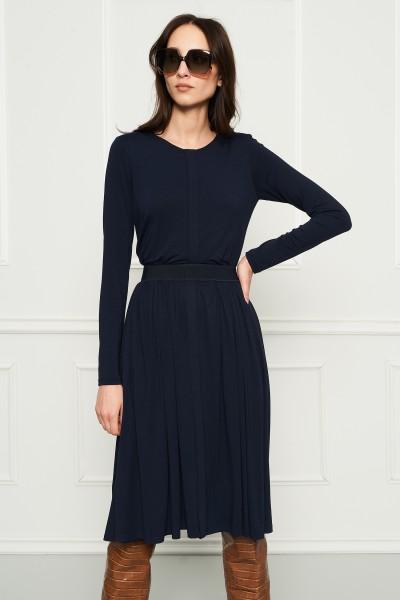 Granatowa sukienka z dżerseju