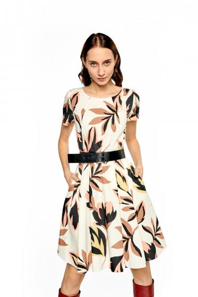 Bawełniana sukienka w kwiaty