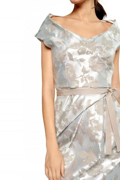 Elegancka sukienka z żakardowej tkaniny