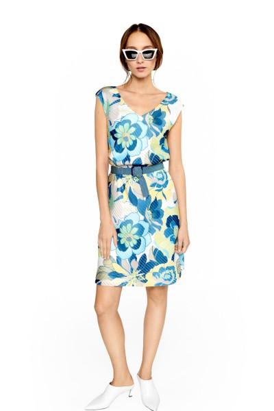 Żakardowa sukienka w kwiaty
