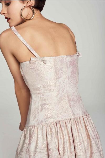 Żakardowa sukienka z połyskiem