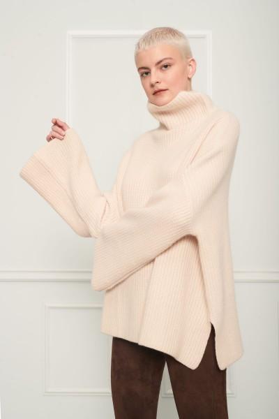 Wełniany sweter oversize z kaszmirem