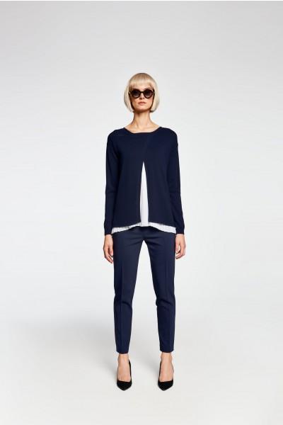Sweter z plisowanym topem